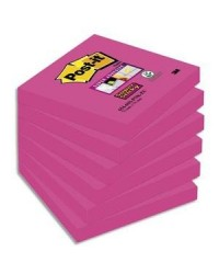 Post it blocs notes adhésives STICKY 76X76 ROSE BP876