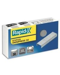 Rapid Agrafes Omnipress 30, Galvanisé, Boîte de 1000, 5000559