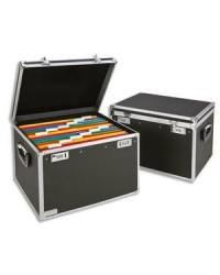 LEITZ Boîte pour dossiers suspendus, noir chrome, 67140095