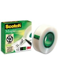 3M Scotch Ruban adhésif Magic 810, 19 mm x 33 m, invisible, 23650