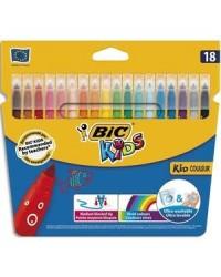 Bic étui 18 feutres de coloriage kid couleur 937508
