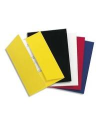Exacompta boite 20 chemises de présentation 2 rabats en carte 250G brillant CHROMOLUX BLEU 635010E