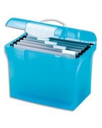 Elba valise de classement polypro BLEU avec dossiers 100330256