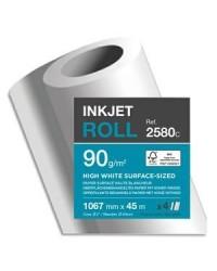 Clairefontaine bobine de papier pour traceur CLAIRJET 1300 90G 1.067X45 2580C
