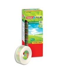 Tesa Ruban adhésif transparent, Eco & clear, 19mm x 33m, Tour de 8 rouleaux, 57074-00000-00