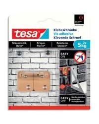 Tesa Vis adhésives, Pour brique, Rectangulaire, 5kg, boîte de 2, 77905-00000-00