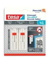 Tesa Powerstrips, Clous adhésifs, 1kg, Blanc, boîte de 2, 77774-00000-00