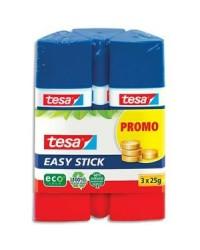 Tesa Lot de 3 colles triangulaires, Easy stick, Tube de 25G, 57047-00000-00