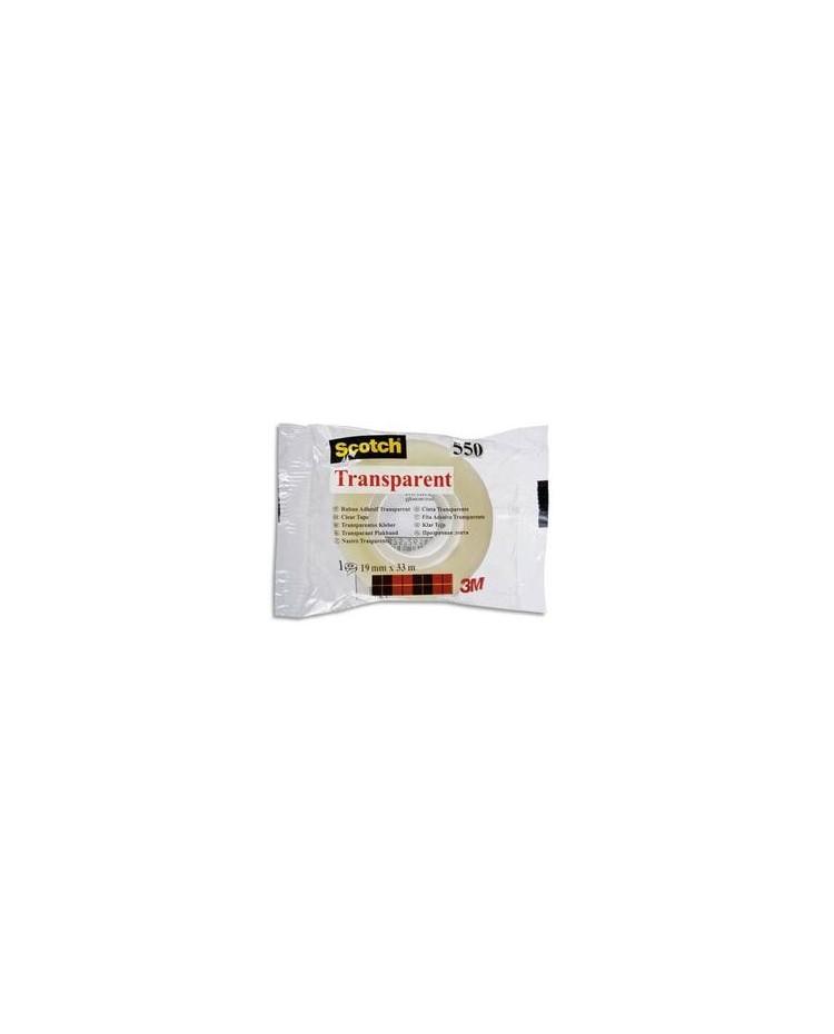 Scotch ruban adhésif transparent 550 19x33 23195