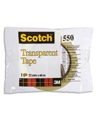Scotch Ruban adhésif 550, Transparent, 12mm x 66m, 23190