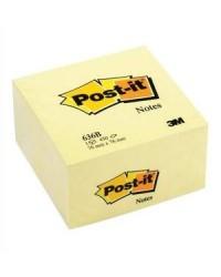 Post it Cube 450 notes adhésives, 76x76mm, Jaune classique, 23401 / 636B / FT510018763