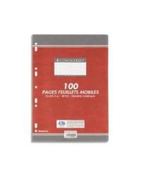 Conquerant Feuilles simples A4, Grands carreaux séyès, étui de 100 Feuillets mobiles, 100102990