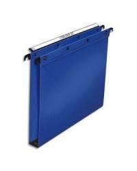 Elba 10 dossiers suspendus plastique tiroir fond 30MM polypro BLEU 100330377
