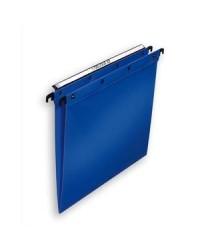 Elba 10 dossiers suspendus plastique tiroir fond en V polypro BLEU 100330375