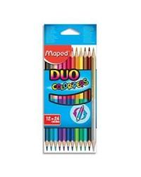 Maped, Crayons de couleur, Color'Peps Duo, Double pointe, 829600