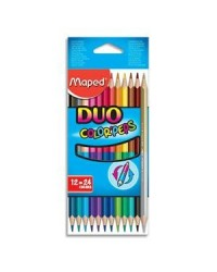 Maped étui 12 crayons de couleur double pointe colorpeps duo 829600