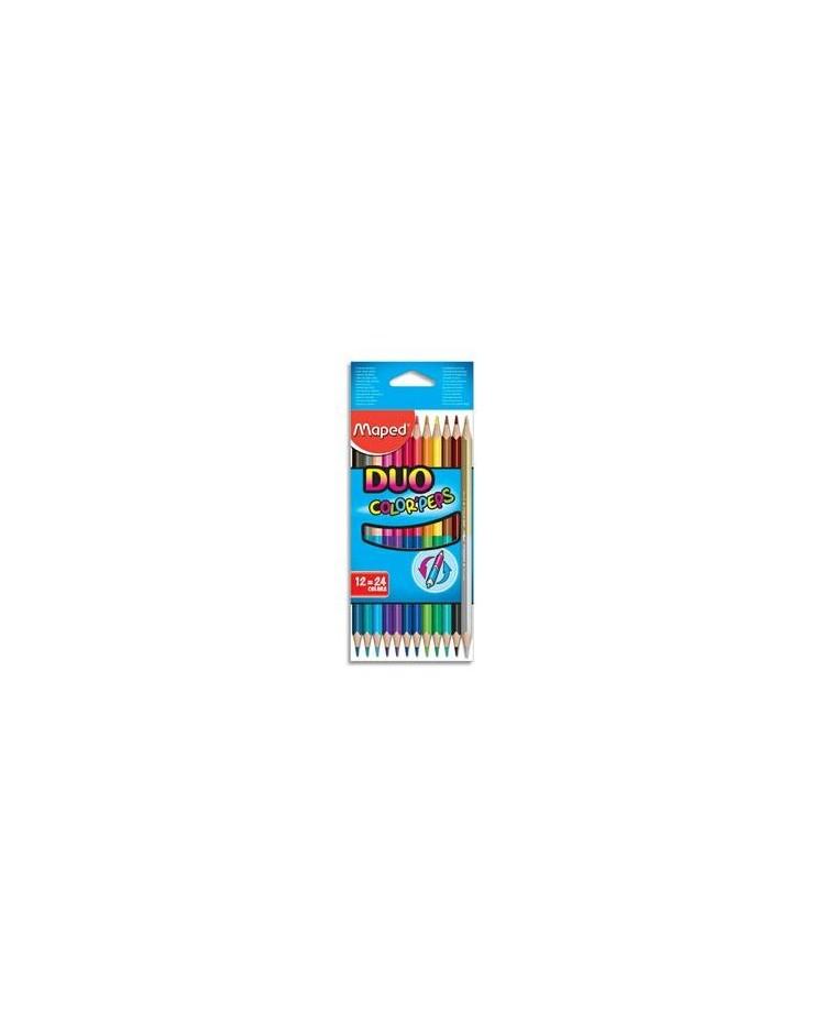 Maped étui 12 crayons de couleur double pointe colorpeps duo 829600
