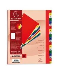 EXACOMPTA Intercalaires alphabétiques en plastique, A-Z, A4+, 20 touches