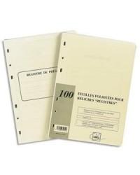 Exacompta recharge 100F foliotées pour reliure juridique 46280E