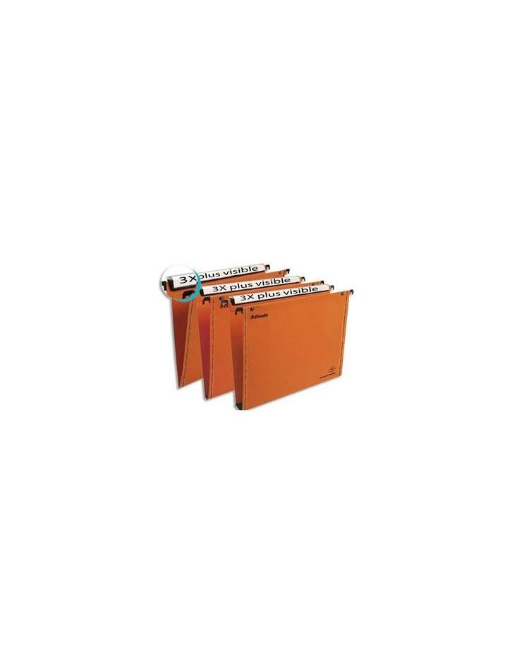 Esselte 25 dossiers suspendus tiroir fond 30MM kraft ORANGE 49941