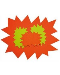 Apli Agipa, Cartons de signalisation, Fluo, Forme éclaté, 160 x 240 mm, Effaçable à sec, 113910
