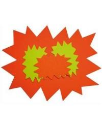 Apli Agipa, Cartons de signalisation, Fluo, Forme éclaté, 240 x 320, Effaçable à sec, 114910