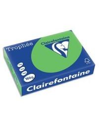 Clairefontaine ramette 250F papier A4 TROPHEE 160G VERT MENTHE 1025C