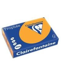 Clairefontaine ramette 250F papier A4 TROPHEE 160G ORANGE CLEMENTINE 1042C