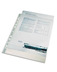 Esselte sachet 100 pochettes plastique perforées polypro lisse 4/100e 13089