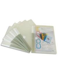 Tarifold sachet 6 pochettes enveloppes A5 velcro incolore 510250
