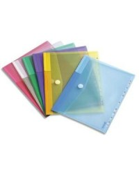 Tarifold Pochettes enveloppes, Perforées, Bouton pression, Sachet de 12, 510229