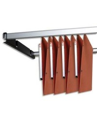 ELBA l'oblique, Rails de suspension métalliques, 1,20 m, Dossiers suspendus, Armoire, 100330227
