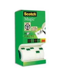 Scotch Ruban adhésif, Magic 810, 19mm x 33m, Tour promo 10+4 rouleaux, BP032