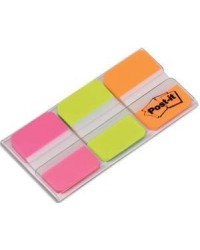 Post it Marque pages, Index strong, 3x22 bandes repositionnables, 686-PGO / 70071493327 / 58651