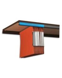 Elba rails en kit pour dossiers suspendus 2 x 1.20 m résine de synthèse 100330229
