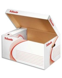 Esselte conteneur archives BOXY Blanc ouverture dessus 128900