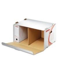 Esselte conteneur archives BOXY Blanc ouverture frontale 128910
