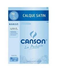 Canson pack 10 feuilles calques 70g A3 200017151