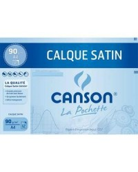 Canson étui 12F papier calque A4 90G satin 200017154