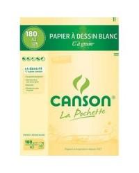 Canson pack 10 feuilles à grain 180g A3 200027106