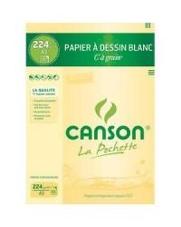Canson pack 10 feuilles à grain 224g A3 200027115