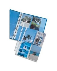 Elba Pochettes perforées, Pour 8 photos 100 x 150 mm, Sachet de 10, 100207022