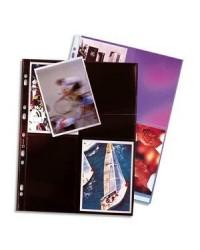 Elba sachet 10 pochettes plastique perforées pour 8 photos 10X15 NOIR 100207023
