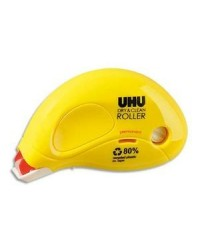 UHU Roller de colle jetable, Permanent, Dry & Clean, 9.5mx6.5mm, 50465