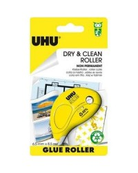 UHU Roller de colle jetable, Non permanent, Dry & Clean, 8.5MX6.5MM 50520