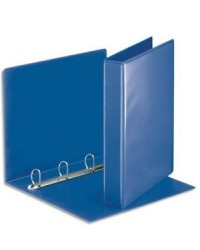 Esselte Classeur personnalisable, Dos 50mm, 2 faces, 4 anneaux, Essentials, Bleu, 49715