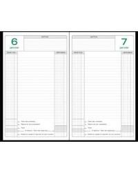 Exacompta Agenda perpétuel de caisse, 1 Jour page, 15x21cm, Noir, 38971E