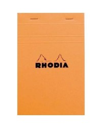 Rhodia bloc orange N°14 110x170 5x5 14200