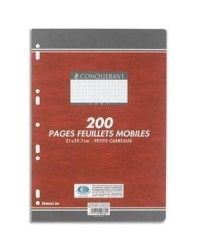 Conquerant 200 feuilles mobiles A4 grands carreaux SEYES 100102150