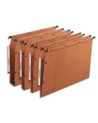 Elba l'oblique, Dossiers suspendus AZV, Armoire, Fond 30mm, Kraft, Orange, 100330475
